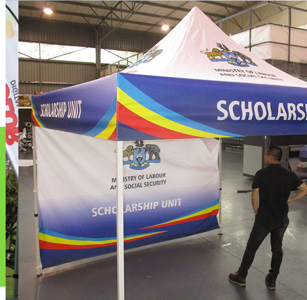 Branded Business Gazebos with one or more walls
