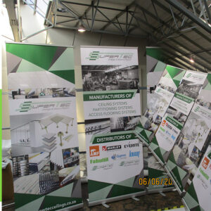 Lightweight - movable - colourful pull up banner display