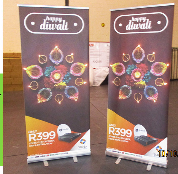 Budget Pull up banners are a cheap reusable advertising method