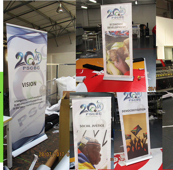 Consider Banner printing of a few variations on a theme to keep interest on your brand or message