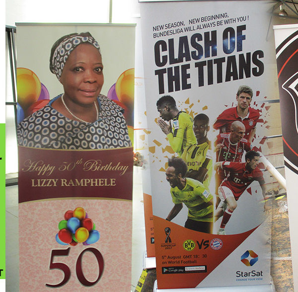 Roll up banners are a cost effective way to mark your special event or occasion