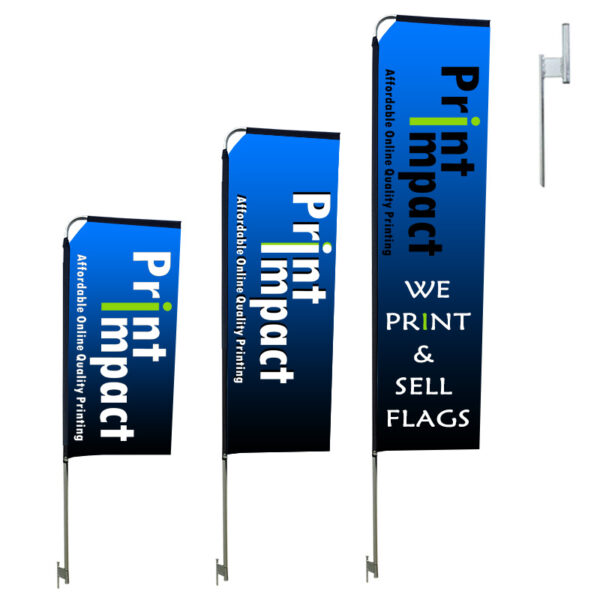 2m, 3m, 4m Telescopic Flags at a cheap price - but professional quality from Print Impact