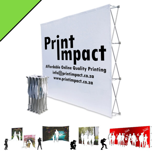 Banner Walls come in 3 standard sizes and can be quickly folded and packed away into an easy to carry bag.