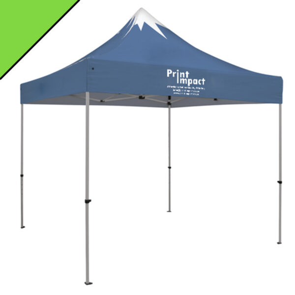 Branded Portable Travel Gazebos fold down for easy transport and includes a carry bag