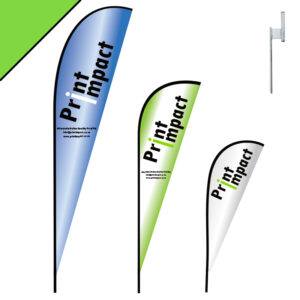 Shark Fin Flag Banners, also known Beach Banners or Wind Banners are free rotating and not rip in the wind