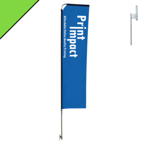 Telescopic Flag Banners are available in 3 meter and 4 meter sizes and can be printed on both sides if you prefer