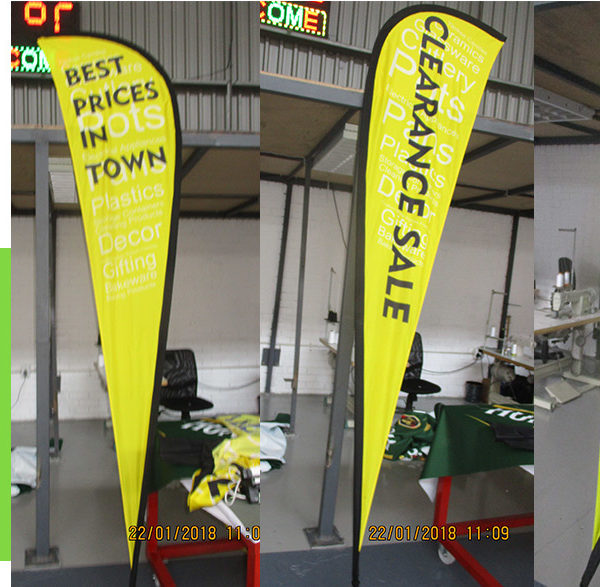 Teardrop banners and flags - Double or Single sided print