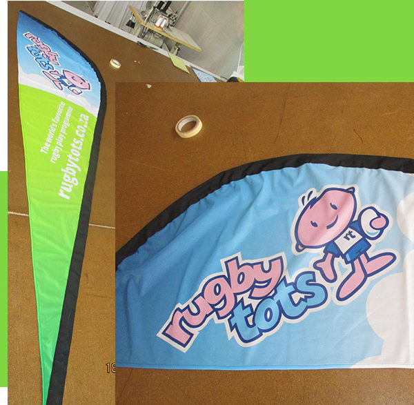 Teardrop Banner template available below in PDF