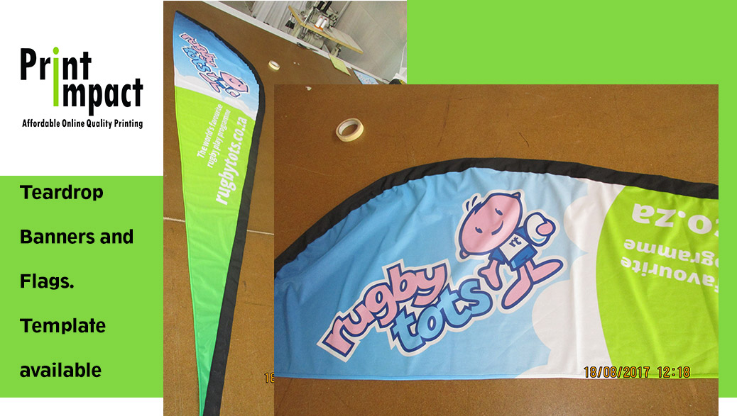 teardrop banner template - sharkfin flag banners are great to get your brand noticed
