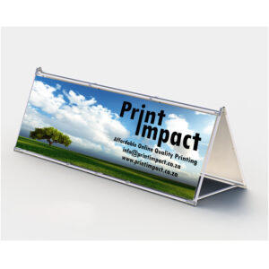 A Frame Banner allow for double sided visibility.