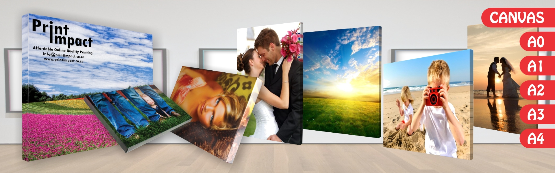 Canvas Printing onto Standard Sizes A0, A1, A2, A3 and Custom Sizes done professionally