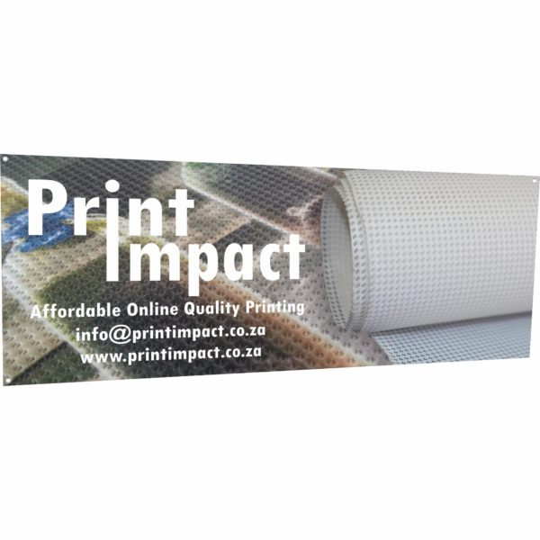 Mesh Banner - Outdoor PVC Banners are Water and UV resistant
