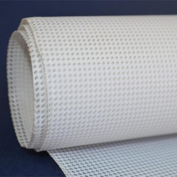 PVC Mesh Banners or Fence Banners have small holes that allow the breeze to pass through the banner avoiding a sail effect and ripping up against the wind.