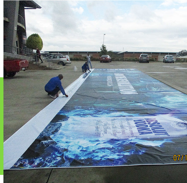 Very large PVC banners are our speciality