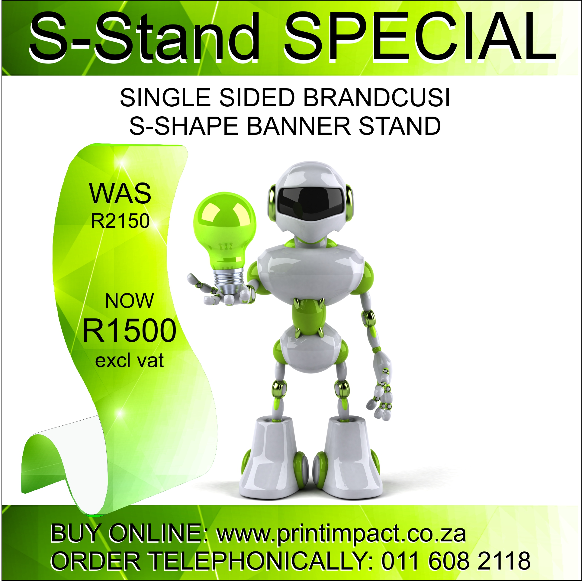 Brandcusi S Shape Banner Stand SPECIAL PRICE