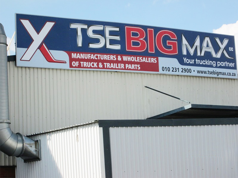 Building Signage and installation - Roof sign