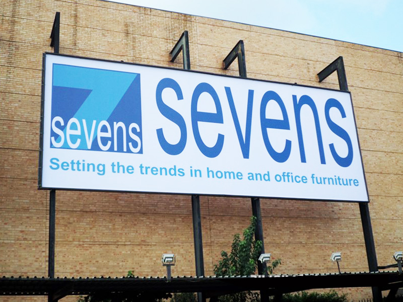Sevens Company name on a building