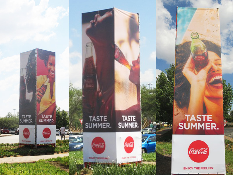 Building Signage and installation - Coca-Cola tower stand
