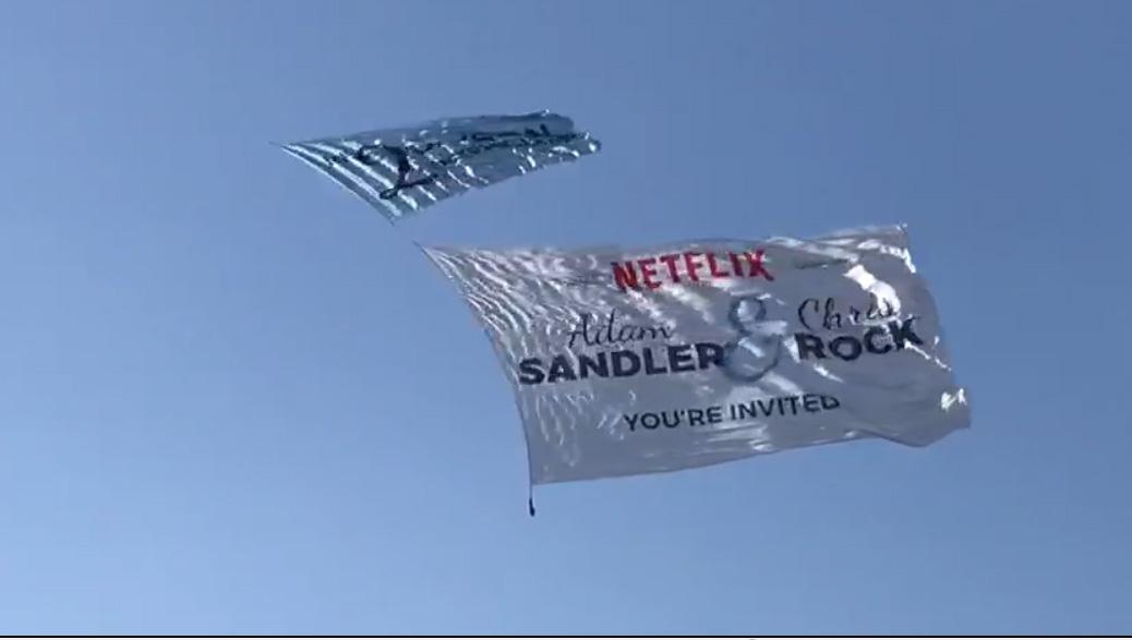 Netflix Flying Banner
