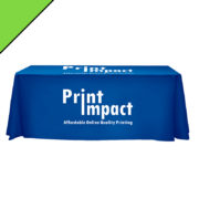 Branded Tablecloth - Custom sizes available - adds a brilliant corporate look and professional touch under your gazebo or next to other banners