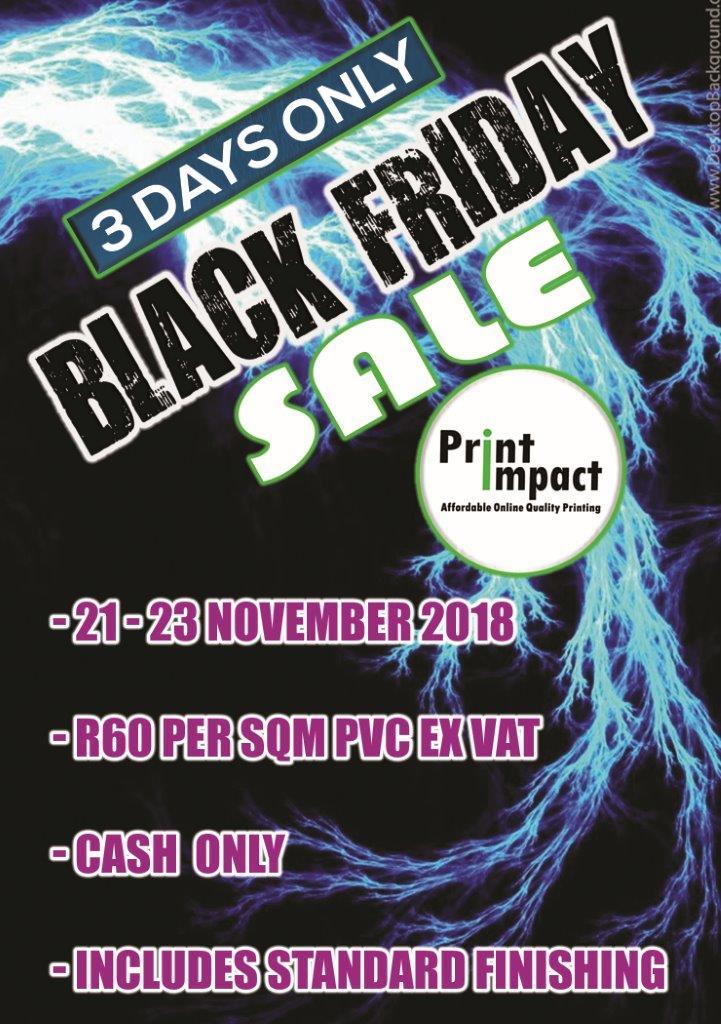 Print Impact Black Friday Special - 2018 - PVC Printing price