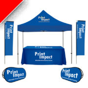 This 6-in-1 Branded Combo Special combines 4 popular and good looking Promotional Products - perfect for Outdoor Displays and Advertising