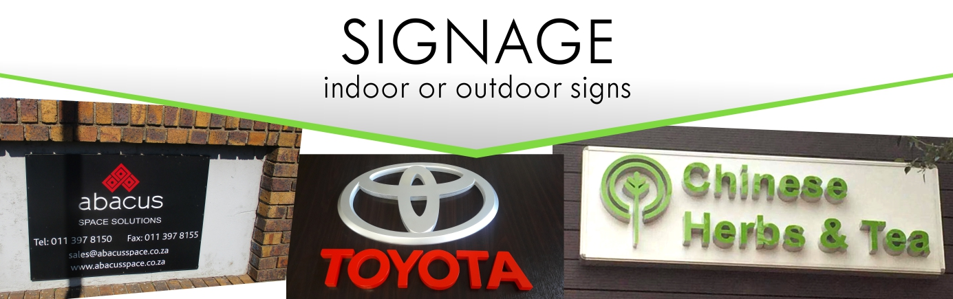 Print Impact does Signage Indoor and Outdoor Signs - any size