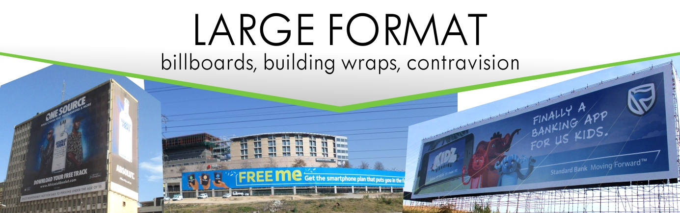 Print Impact does Large Format Printing including Billboards, building wraps and contravision