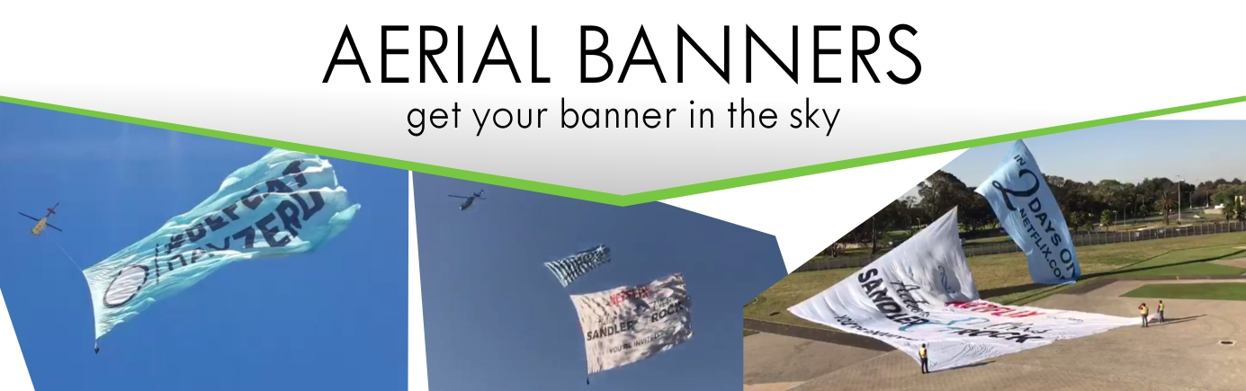 Print Impact does Aerial Banners - also called Helicopter Flags