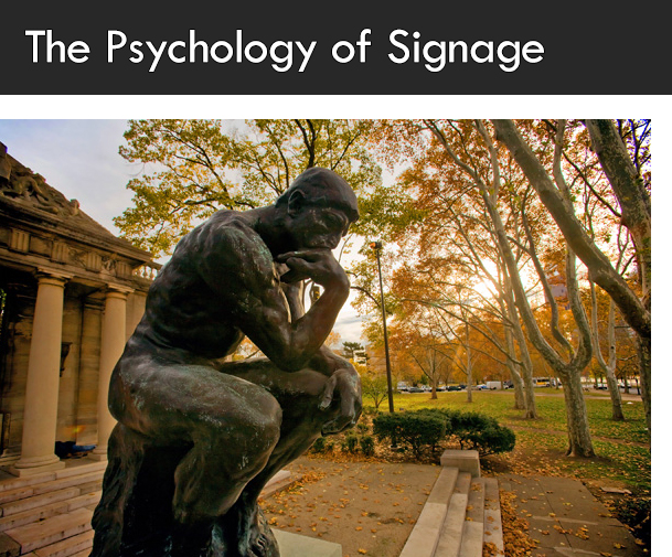 The Psychology of Good Signage and How to make it work