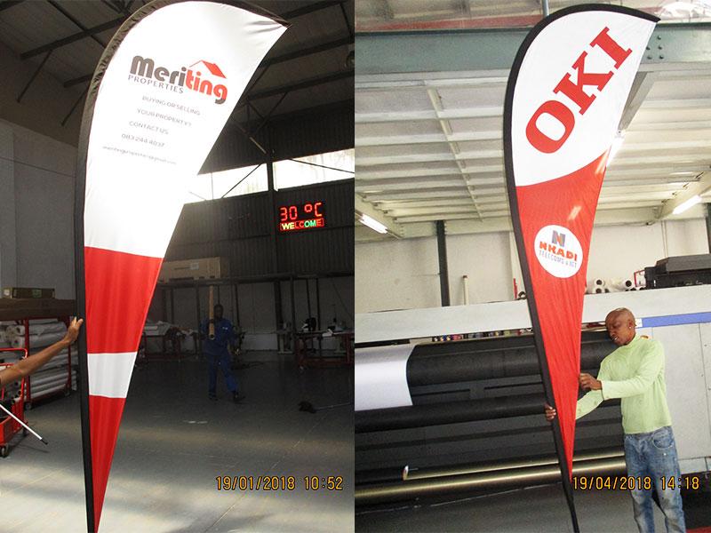 Print Impact - 2m, 3m, 4m Teardrop Wind Flags, single or double sided print