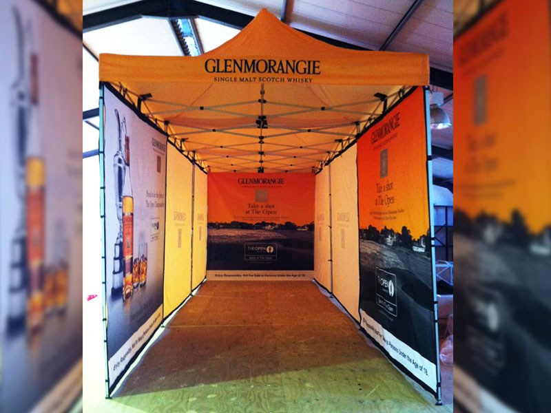 Print Impact - Large extended Branded Gazebo with full walls