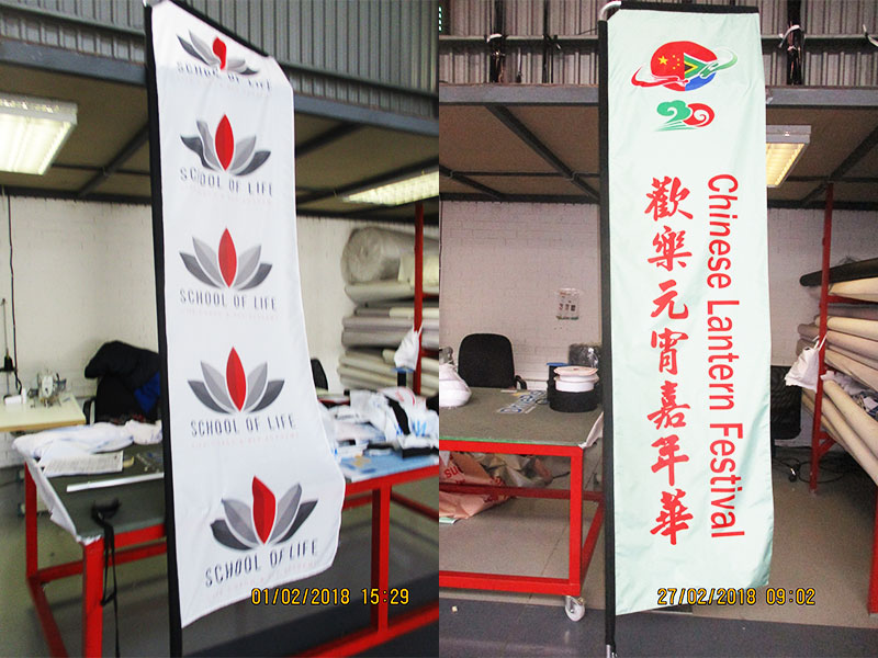 Print Impact - 2m, 3m, 4m Telescopic Flags - single or double sided print