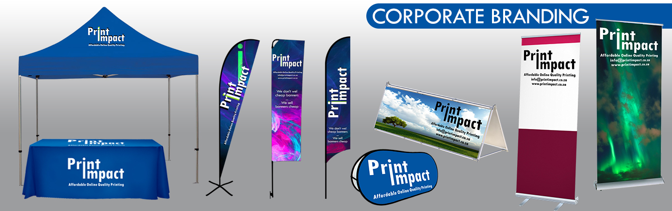 CORPORATE BRANDING by Print Impact - Branded Gazebos, Flags, Banners and other Dye Sub Printing