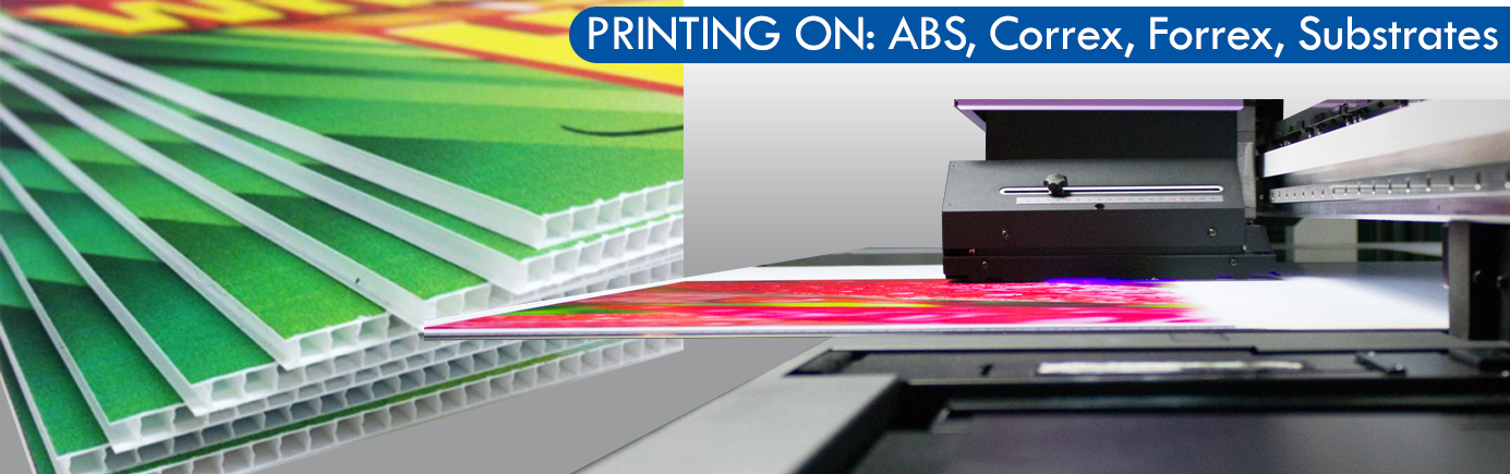 FLATBED PRINTING by Print Impact - ABS, Correx, Forrex and other Substrates Printing