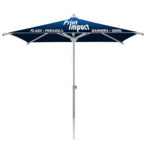 Branded Parasol Umbrellas add professional branding outside your office or at your next event