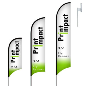 Branded Fly Banner Flags are tough, lightweight and add a stunning display
