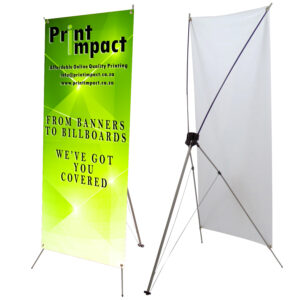 X-Banner Stands are a cheap way to attract clients to your store