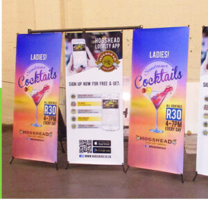 X Banner Printing allows you to quickly change your banners when you need to.