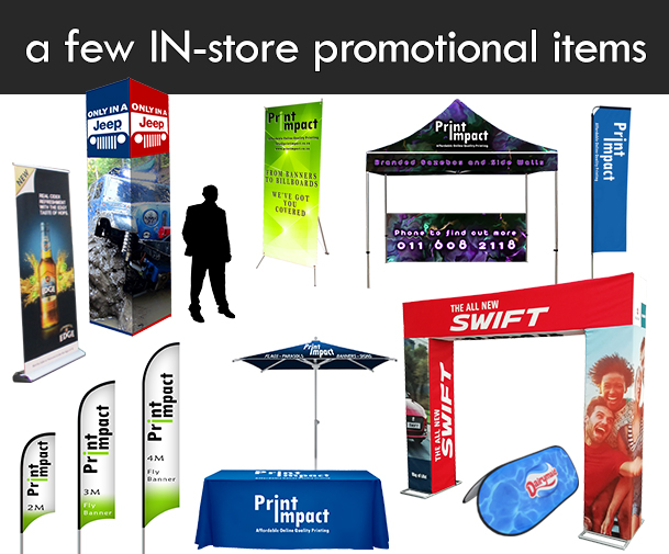 Use in store promotion to boost your retail sales.